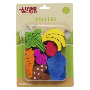 Living World Nibblers Wood Chews – Fruit/Veggie Mix UPC ( Item: 61467)