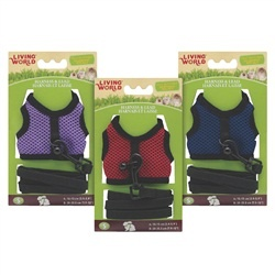 Living World Small Harness and Lead Set – Assorted Colors