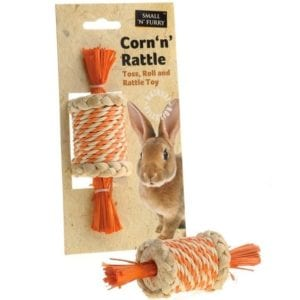 Sharples Corn 'n' Rattle small animal toy