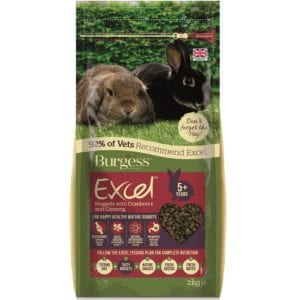 Burgess Excel Mature Rabbit Nuggets with Cranberry & Ginseng- 2kg. For older rabbits