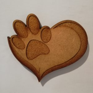 Paw Print Fridge Magnet